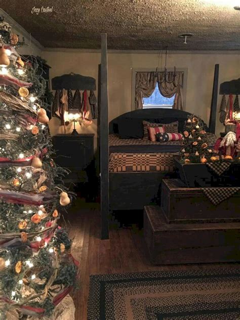 45+ Adorable Interior Themed Christmas Bedroom Decorating