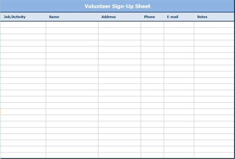 email sign  sheet template business