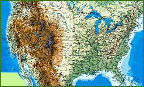Detailed Image Map Of The Usa Beautiful Pictures And Desktop Backgrounds