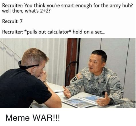 Army Recruiter Meme - funny military memes of 2017 on sizzle talibanned