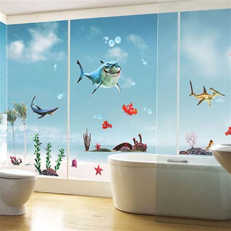 new finding nemo fish wall stickers bathroom 3d cartoon