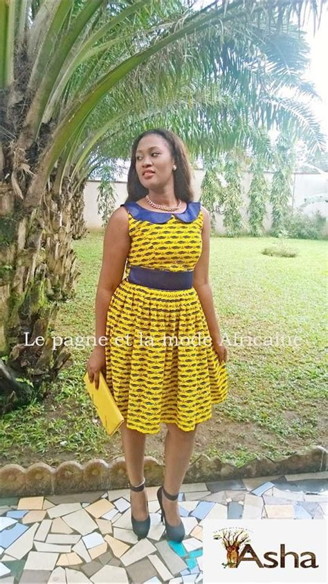 Robe Pagne Africain Robe En Pagne Wax Africain N 176 1 Robe Par Afro Peps Couture Only Robe Africaine Robe