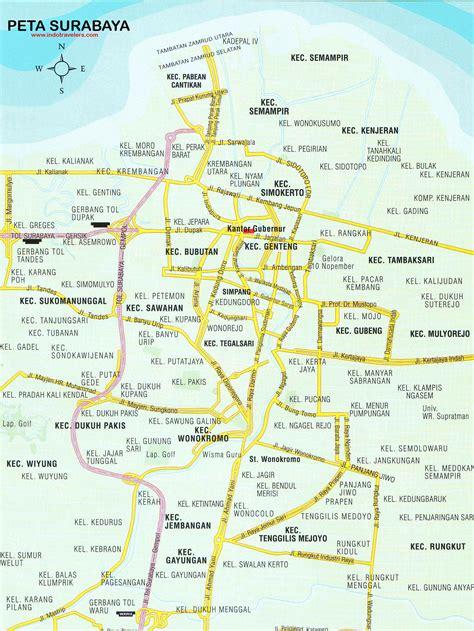 peta surabaya surabaya map