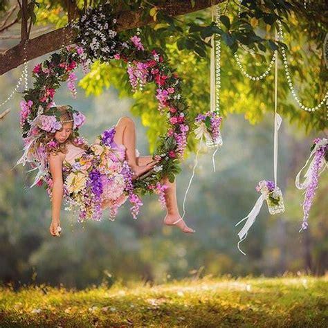 circular swing prop sweet dreams high   trees