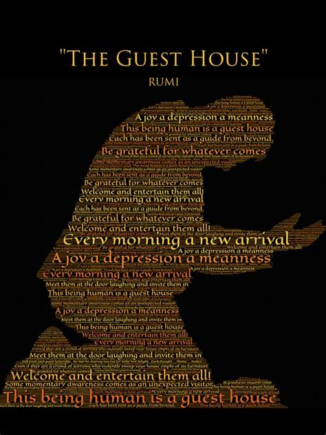 illustration rumi  guest house gratitude