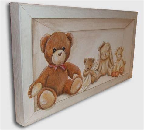 tableau pour chambre tableau peinture nounours ourson