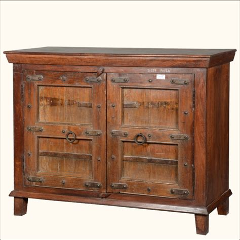 salvaged kitchen sinks rustic 51 quot reclaimed wood sideboard cabinet buffet 2096