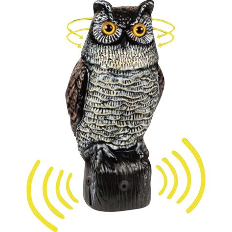 owl for garden garden defense electronic bird pest repeller owl new ebay