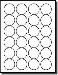 avery 2 round label template - 480 round 1 5 8 diameter white matte laser and inkjet