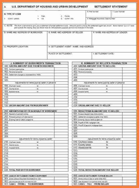 hud settlement statement marital settlements information