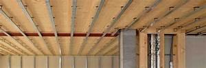 Faux Plafond Placo Sur Rail : plafond et faux plafond en plaque de pl tre placo ~ Melissatoandfro.com Idées de Décoration