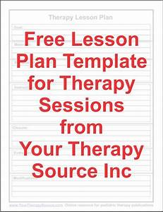 free lesson plan template for ot pt slp ot ideas pinterest With slp lesson plan template
