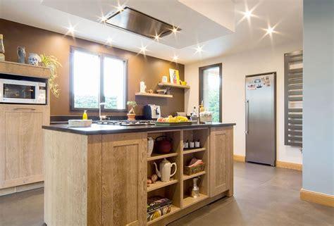 cuisine avec ilot îlot central avec piano intégré cosy loft