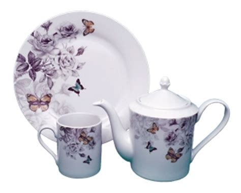 Royal China Butterfly 40 Piece Dinner Set Service For 8