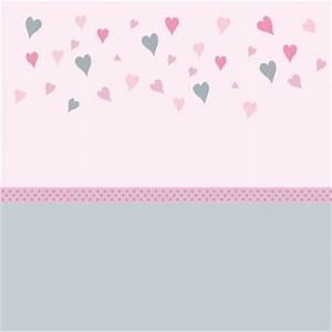Papier Peint Rose Et Gris : papier peint coeurs rose et gris bas gris lili pouce ~ Dailycaller-alerts.com Idées de Décoration