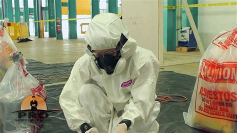 asbestos removal training pro safety  training youtube