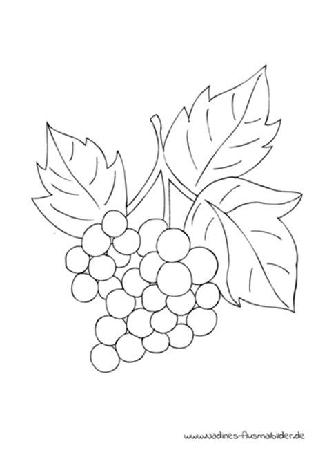 weintrauben weinrebe trauben obst nadines ausmalbilder