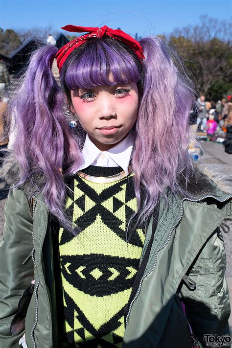 Pretty Purple Hair Bomber Jacket And Pink Air Jordan