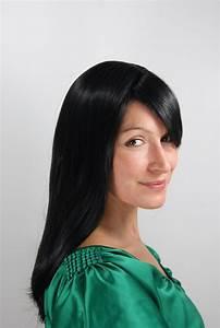 Glatt Und Glänzend : damen per cke wig schwarze haare glatt gl nzend lang haarersatz 50 cm 3120 1b kaufen bei vk ~ Frokenaadalensverden.com Haus und Dekorationen