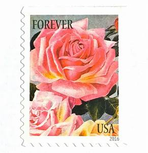 10 unused pink rose forever postage stamps vintage With postage stamps for wedding invitations australia