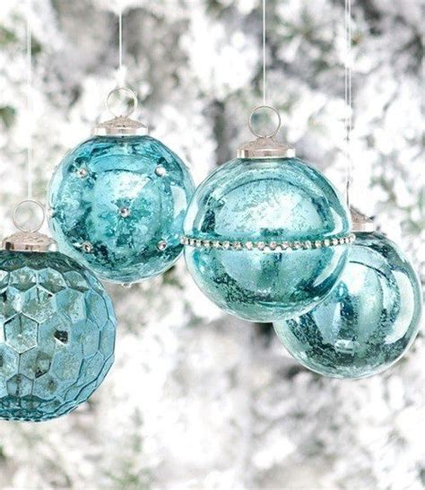 turquoise ornaments christmas pinterest