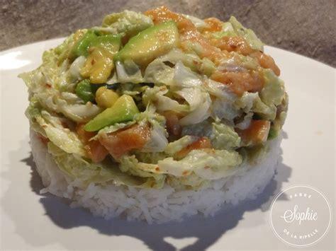 chou cuisine salade au chou chinois et saumon la tendresse en cuisine