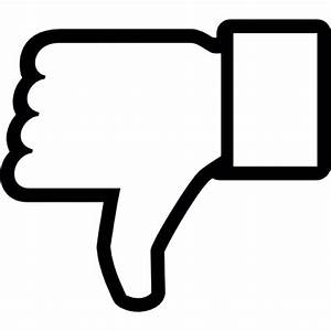 Dislike on Facebook, thumb down symbol outline Icons ...
