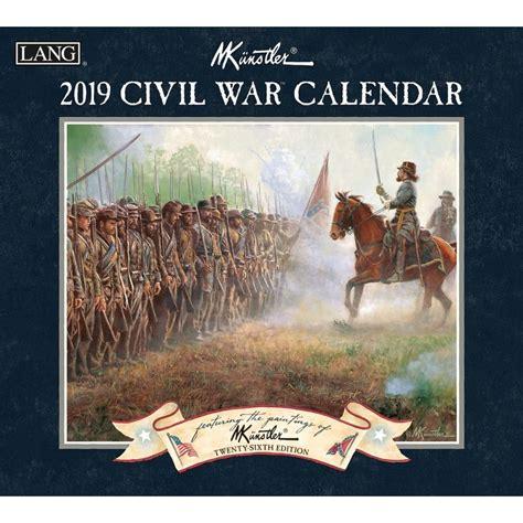 civil war  wall calendar