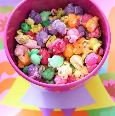 colored popcorn popcorn and rainbow popcorn on