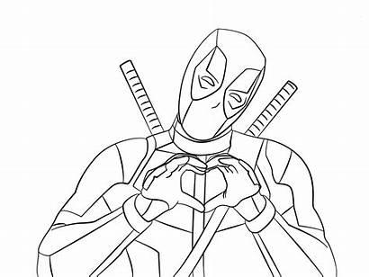 Deadpool Coloring Printable Adults Sheets Marvel Colorear
