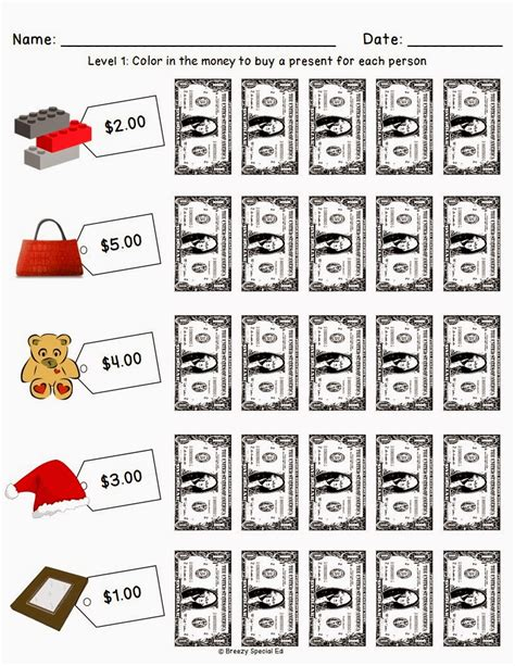 christmas holiday shopping worksheets for free breezy special ed