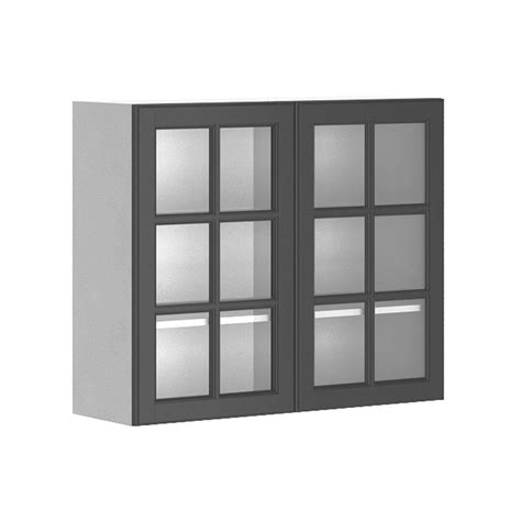 kitchen wall display cabinets eurostyle ready to assemble 36x30x12 5 in buckingham wall 6418