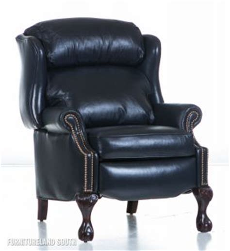 bradington young navy blue leather sofa chair and fabric