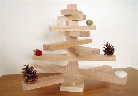 scandinavian style wooden christmas tree