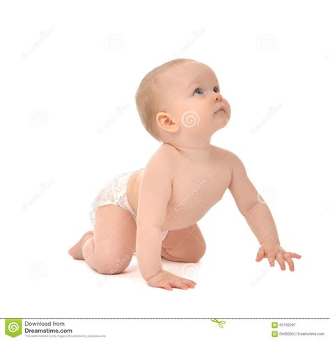 Infant Child Baby Toddler Sitting Crawling Happy Smiling