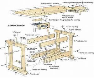 Workbench Plans Garage Free How To Making Woodwork PDF