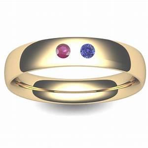 birthstone wedding ring court 3 8mm tbtch18y 18ct yellow With birthstone wedding rings
