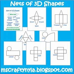 geometry net templates - nyla 39 s crafty teaching free 3d shape nets