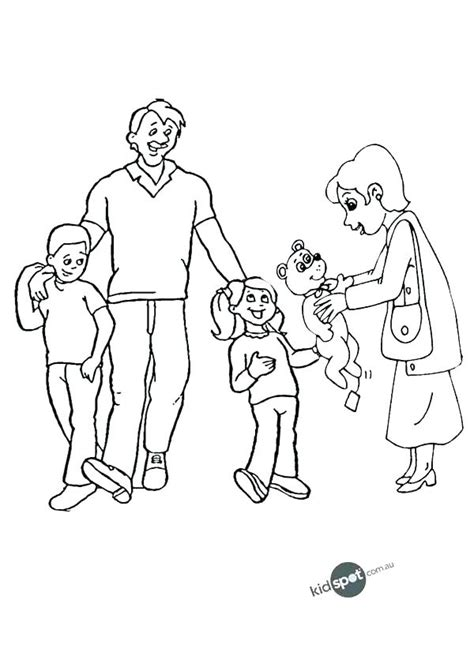 Happy Family Coloring Page at GetColorings com Free