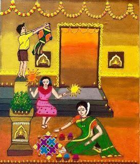 indian village art painting   diwali drawing