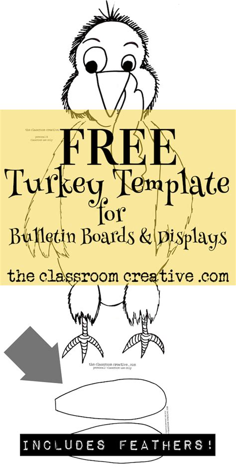 Turkey In Disguise Bulletin Board Template by Free Printable Turkey Template For Bulletin Boards And