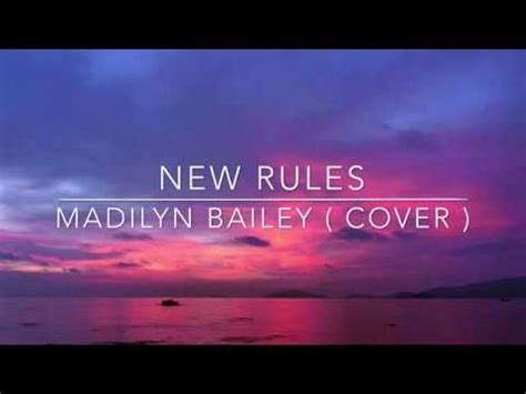 michael constantino mashup lyrics new rules lyrics madilyn bailey cover youtube