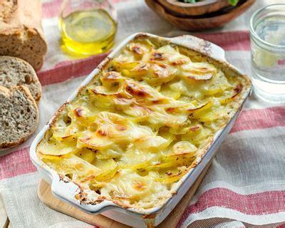 recette gratin de panais pommes de terre sur lit de lardons