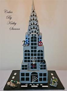 Spiderman Themed Cake With My Cartoonish Recreation Of The