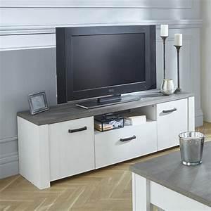 Meuble Cache Tv : meuble tv 2 portes ouvrantes et 1 tiroir marquis dya ~ Premium-room.com Idées de Décoration