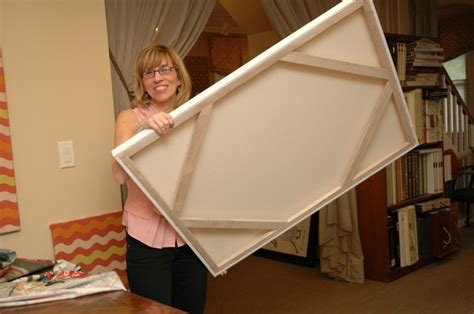 canvas floater frame kit fabric as wall designer diy
