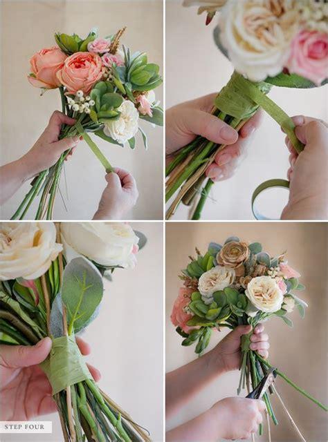 how to make a faux flower bridal bouquet bouquets diy