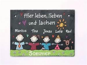 Namensschild Haustür Schiefer : schiefer t rschild namensschild comicfamilie ii ~ Lizthompson.info Haus und Dekorationen