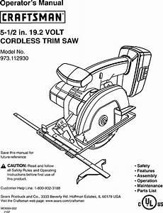 Craftsman 973112930 User Manual 19 2 Volt Cordless Trim