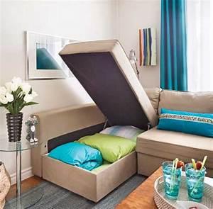 Canapé Lit Petit Espace : comment meubler les petits espaces trucs et conseils ~ Premium-room.com Idées de Décoration